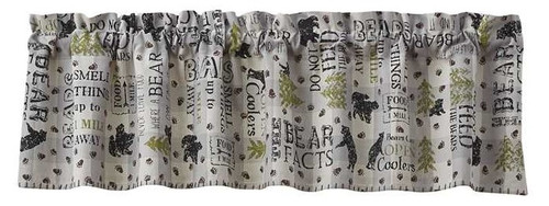 Bear Facts Lined Valance