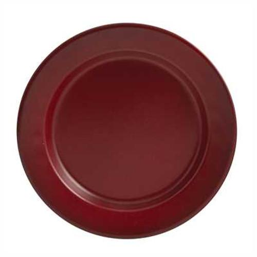 Rustic Red Enamelware Salad Plate - SALE!
