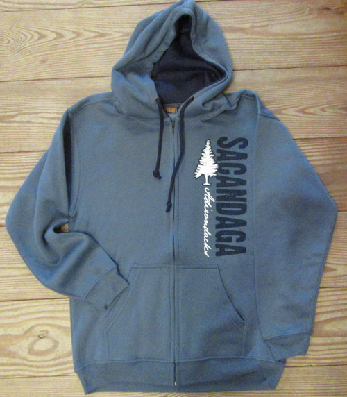 Sacandaga Adirondacks  Blue Hooded Sweatshirt