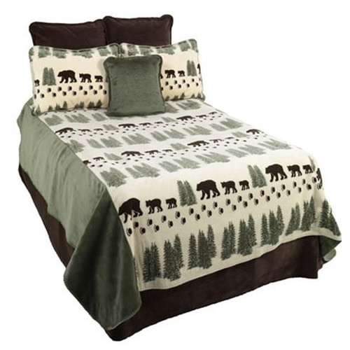 Pearl Denali Bear Bedding and Throw - options available
