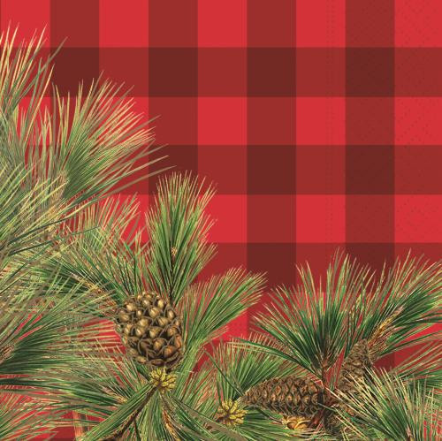 Evergreen Boughs  Luncheon Napkins