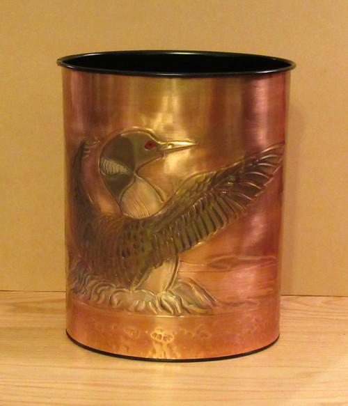 Copper Loon Wastebasket