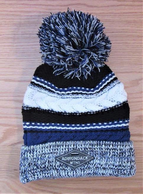 Adirondack Mtns Ski Hat - Black and Blue  - ON SALE