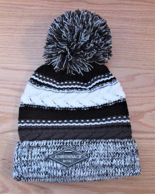 Adirondack Ski Hat - Black and Grey