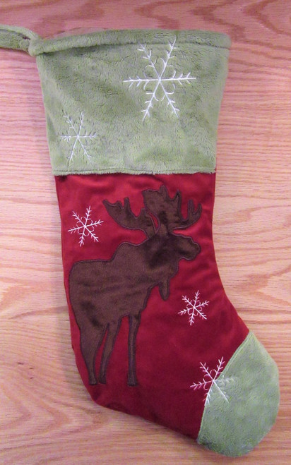 Plush Christmas Stocking - Moose - SALE!