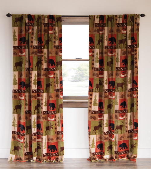 """Patchwork Lodge 84"""" Curtains   SALE!   ONLY 4 LEFT!"""