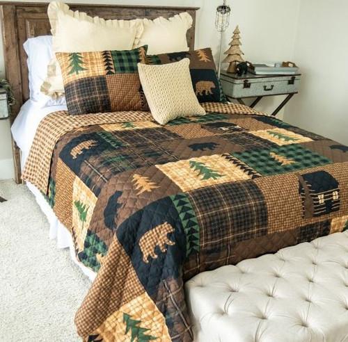 Brown Bear Cabin Bedding