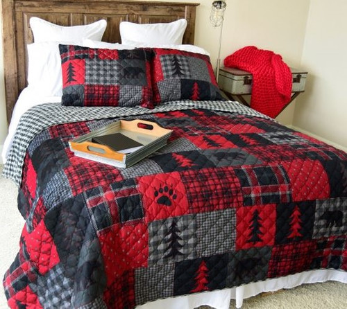 Red Forest Bedding