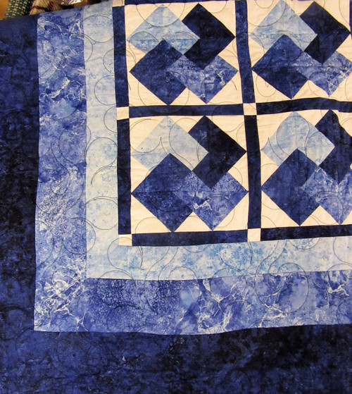 """Card Tricks"" Blue and White Quilt  - SALE"