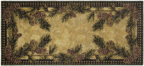 Pine Cone Gingham Rug