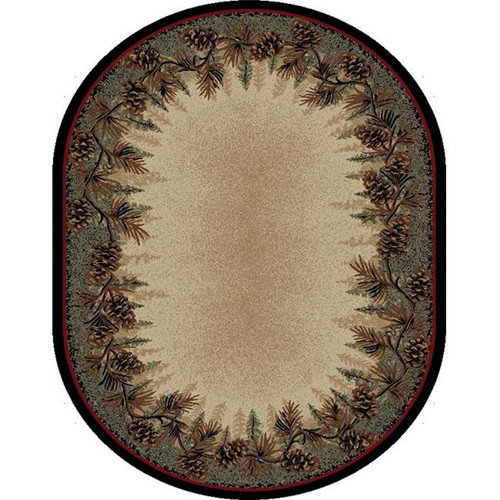 Mount Le Conte Oval Rug - options available
