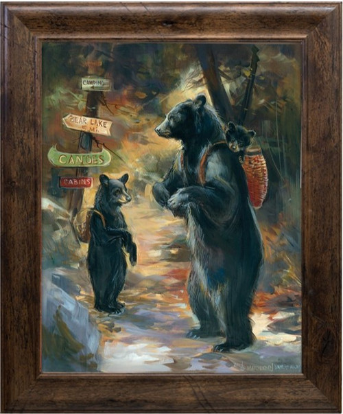 Stunning artwork from artist Marilynn Mason will make a dramatic statement in your home. Her bears depict the joy of nature and fun in the outdoors.