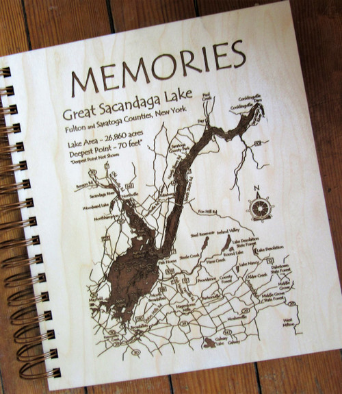 Photo Album -  Etched Map of the Great Sacandaga Lake