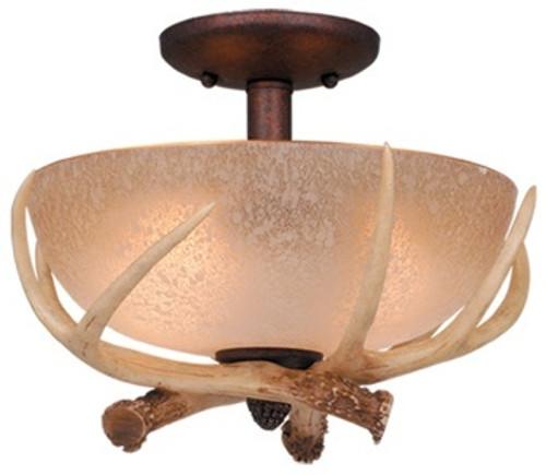 Log Cabin Ceiling Fan Light Kit - Antler