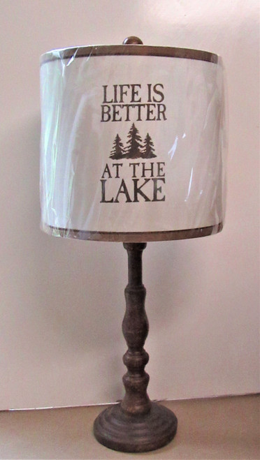 Life is Better at The Lake Lamp
