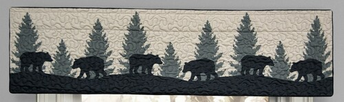 Bear Walk Plaid Valance/Runner