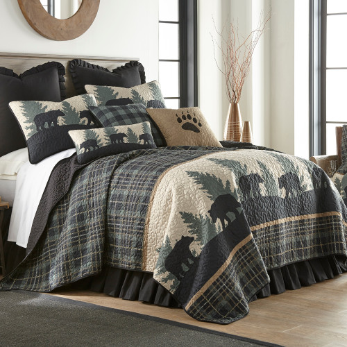 Bear Walk Plaid Quilt - options available