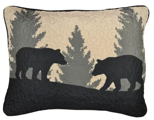 Bear Walk Plaid Pillow Sham