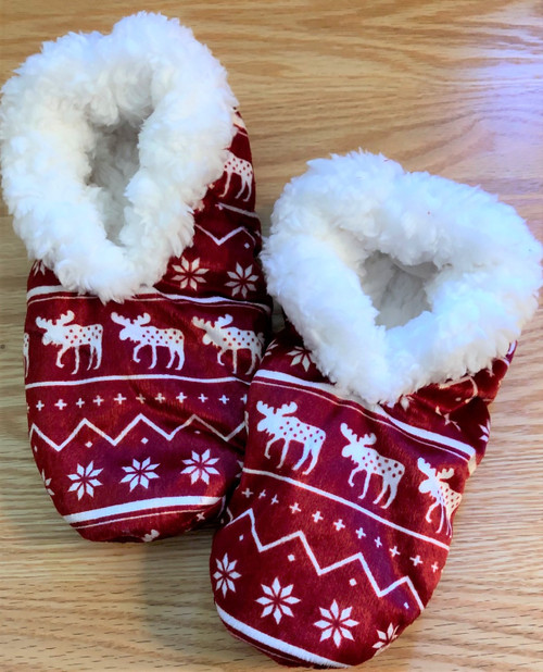 Women's Nordic Moose Fuzzy Feet