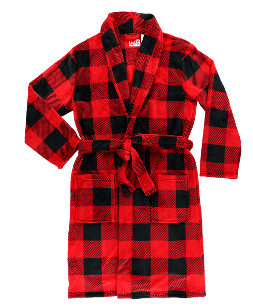 Men's Buffalo Check Bathrobe