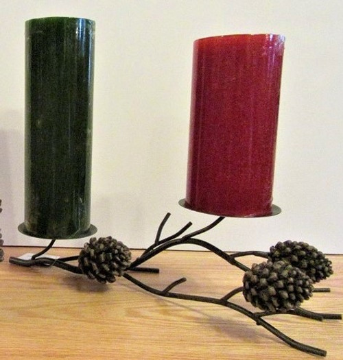 Pinecone Pillar Holder