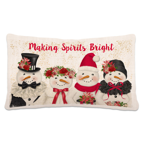 Holiday Snowmen Pillow - SALE!