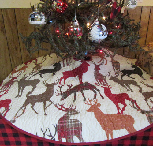 Reindeer Christmas Tree Skirt
