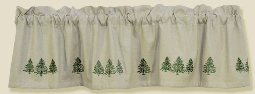 Pine Tree Embroidered Valance