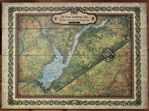 Great Sacandaga Lake Map on Wood