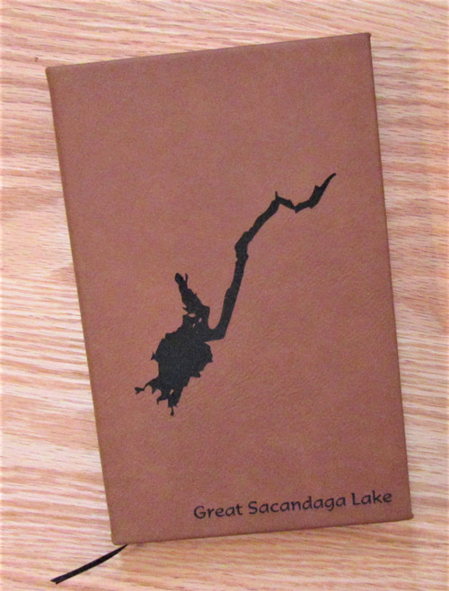 Great Sacandaga Lake Faux Leather Notebook
