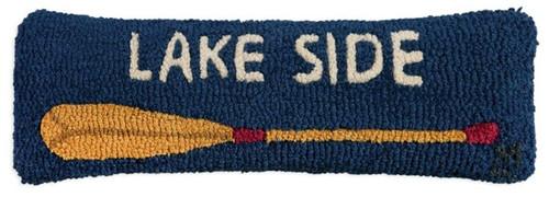 Hooked Wool Pillow - Lake Side