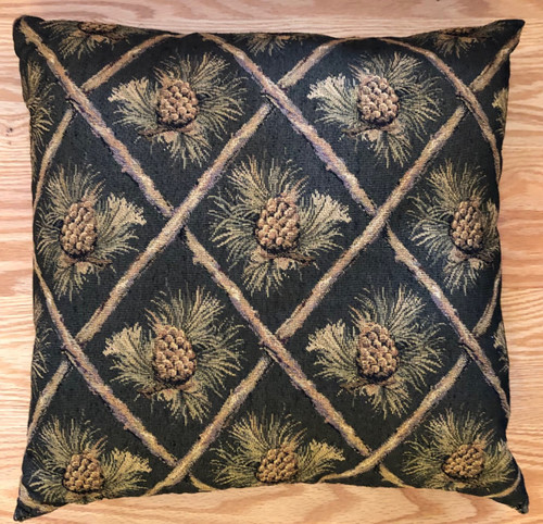 Diamond Pinecone Tapestry Pillow