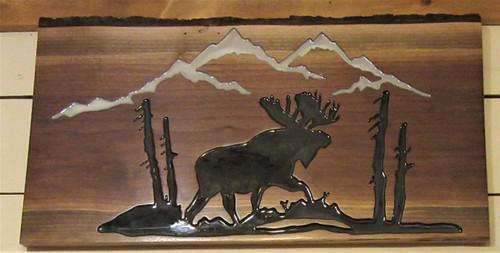Adirondack Scene Carved - Moose