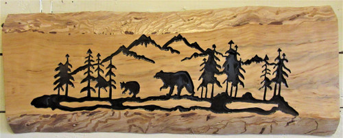 Adirondack Scene Carved - Bears