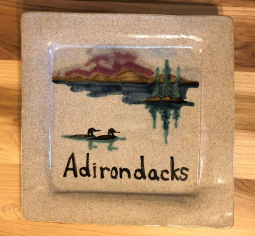 Adirondack Lake and Loons Plate