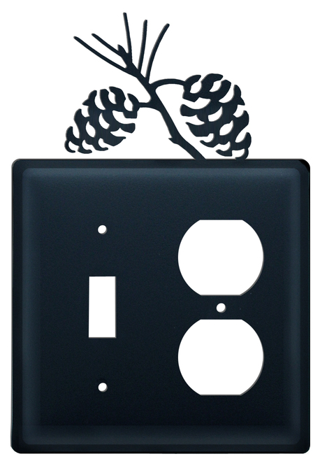Black Wrought Iron Combination Switch Cover