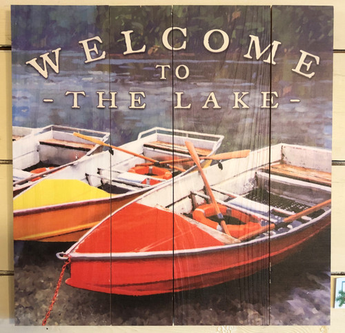 Welcome to the Lake Rustic Sign