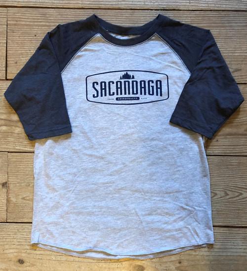 Vintage Baseball Kid's Shirts - Navy Heather