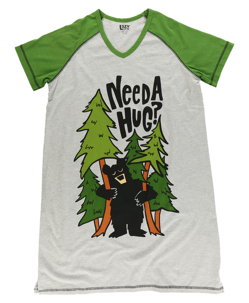 "Ladies Nite Shirt ""Tree Hugger"""
