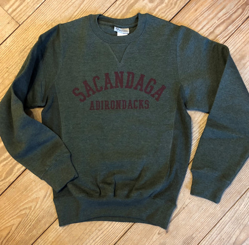 Dark Green Heather Sacandaga Sweatshirt