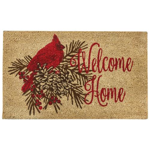 Welcome Home Cardinal Doormat