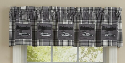 Loon Patch Lined Valance