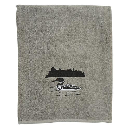 Loon Embroidered Bath Towel