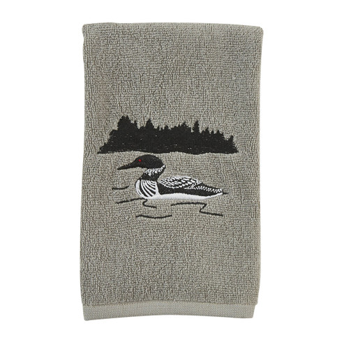 Loon Embroidered Hand Towel