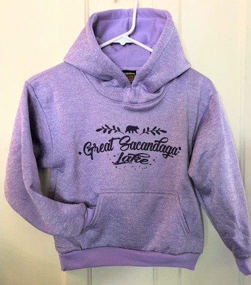 Lavender Children's Hoodie Great Sacandaga Lake
