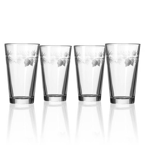 Icy Pine Pint Glass, Set of Four