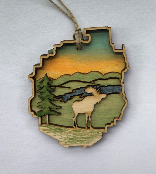 Adirondacks Moose Ornament
