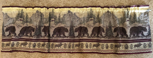 Bear Mountain Tapestry Valance
