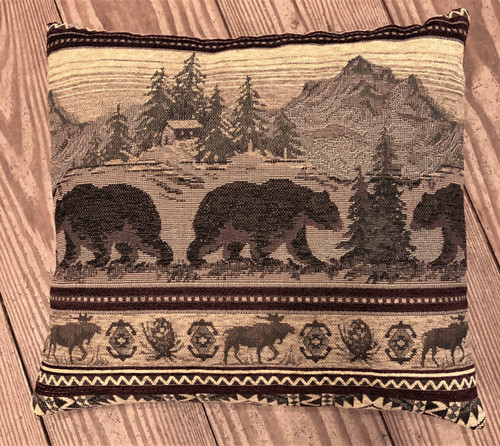 Bear Mountain Tapestry Pillow