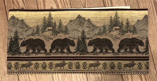 Bear Mountain Tapestry Table Runner
